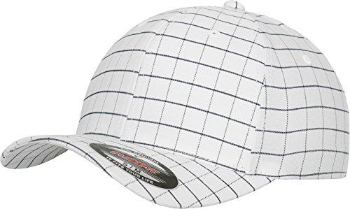 Flexfit Erwachsene Mütze Square Check Cap, Wht/dark Navy, S/M -