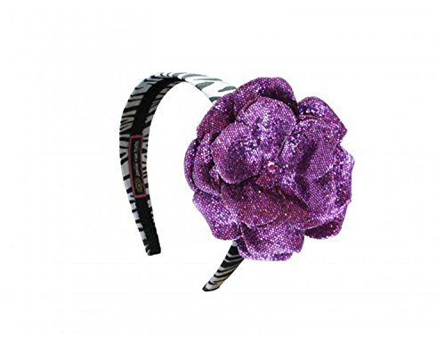 Jamie Rae Hats Zebra Hard Headband with Sequins Purple Rose, One Size Jamie Rae Zebra