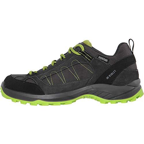 McKINLEY Herren Travel Comfort AQX Trekking- & Wanderhalbschuhe, Grau (Grey Dark/Green Lime 901), 45 EU