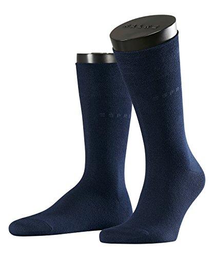 ESPRIT Herren Basic Easy 2p Socken Herrensocken, Blickdicht, Blau (Marine 6120), 43/46 (Herstellergröße: 43-46) (erPack 2