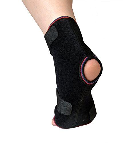 Tutore in Neoprene Per Malleolo e Caviglia da Soles - Taglia Unica - Si Adatta (Stecca Di Sostegno Del Gancio)