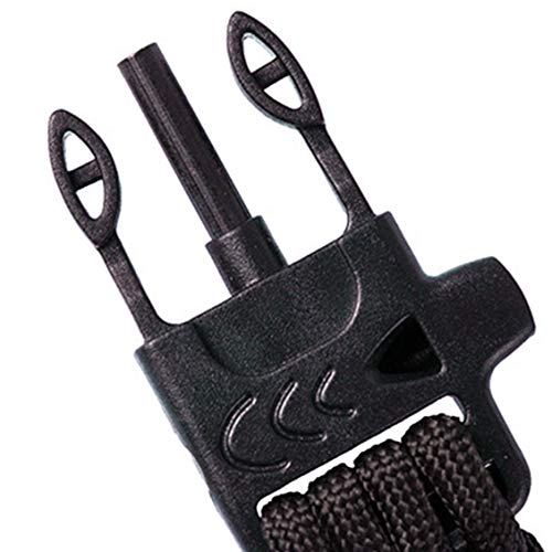 Imagen de pgige paracord pulsera supervivencia de emergencia kit de equipo militar con brújula de arranque brújula silbato y cuchillo  naranja negro alternativa