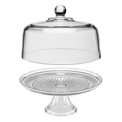 n Glass Cake Dome With Pedestal, Clear, 12 Inches ()