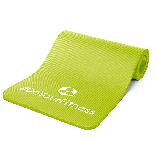 EXTREM DICKE Fitnessmatte (2cm!) »Jivan« / dick und weich, ideal für Pilates, Gymnastik und Yoga, Maße: 183 x 61 x 2,0cm / In vielen Farben erhältlich. Perfekt für empfindliche Personen - sehr weich - auch zum Balance-Training verwendbar : grün