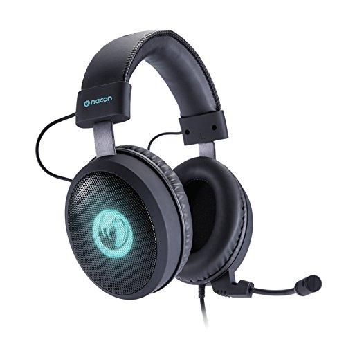 NACON PCGH-300SR Binaural Bandeau Noir Casque Audio - Casques Audio (Console de Jeu/PC/Jeux, 7.1 canaux, Binaural, Bandeau, Noir, Bleu)