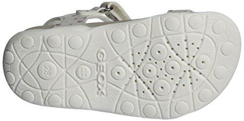 Geox Jr Aloha B, Sandales Bout Ouvert Fille Blanc (Whitec1000)