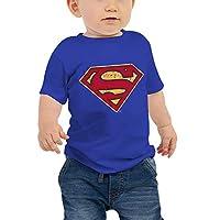 WarnerBros Baby Boys Super Man T-shirts, Blue, 9-12 Months