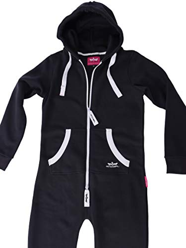 Finchgirl Damen Jumpsuit Jogger Trainingsanzug in Schwarz - 4