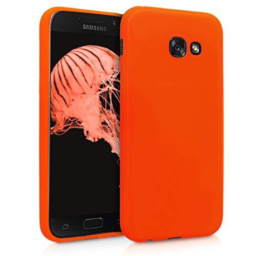 kwmobile Coque Samsung Galaxy A5 (2017) - Coque pour Samsung Galaxy A5 (2017) - Housse de téléphone en Silicone néon Orange