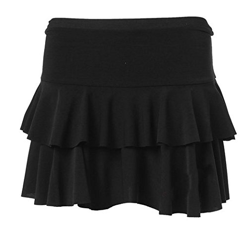 Freundin Trendz -Womens Rara TuTu Short Stretchy Rock Damen Minirock Black
