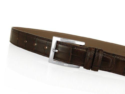 Hugo Boss Gürtel PETRIOS, dunkelbraun, 100 cm