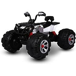 Quad x bambini BIANCO LT870, ATV MONSTER, luci e suoni, 5-8 km/h. MEDIA WAVE store