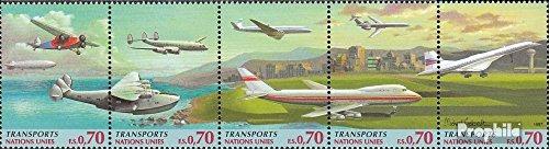 Prophila Collection UNO - Genf 314-318 Fünferstreifen (kompl.Ausg.) 1997 Verkehrswesen (Briefmarken für Sammler) Luftfahrt