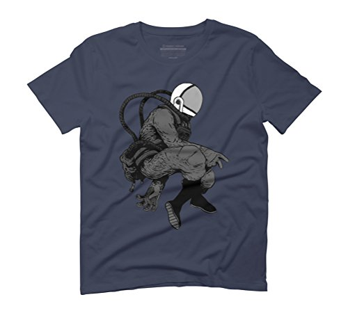 spaceman 3 Men's Graphic T-Shirt - Design By Humans Navy