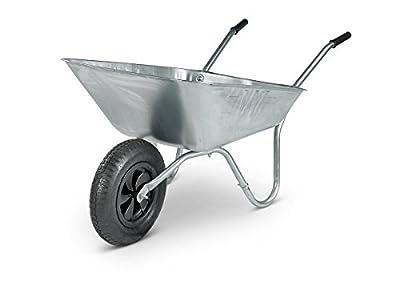 Walsall Wheelbarrows 90 Ltr Galvanized Wheelbarrow Garden Barrow - Pneumatic Wheel