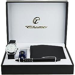 Geschenkbox zeigt Herren Weiß soldes Valentinstag Lampe-Messer Multifunktions brieftasche UND Stift