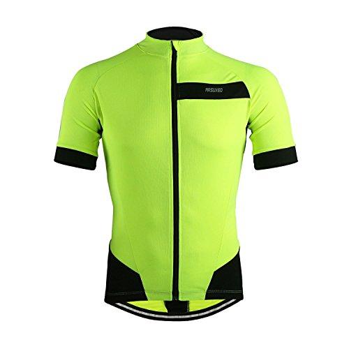 M.Baxter Sommer Fahrradbekleidung Herren Fahrradtrikot Kurzarm Sportbekleidung Full-zip Radsport Jersey Team Shirt Fitness (Jersey Adidas-full Zip)