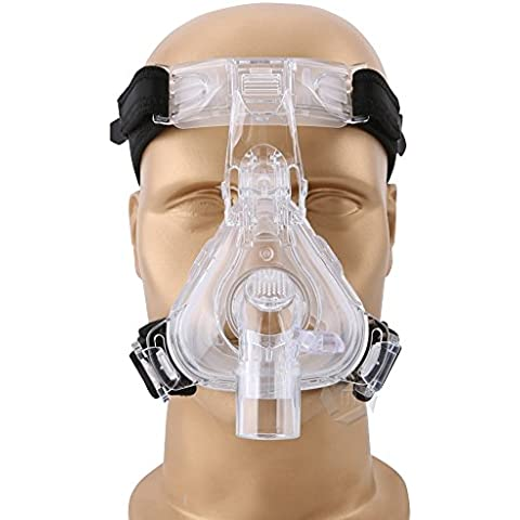 Mcoplus NM-03 silicone del grado medico di assistenza sanitaria e plastica CPAP maschera nasale con copricapo per apnea del sonno