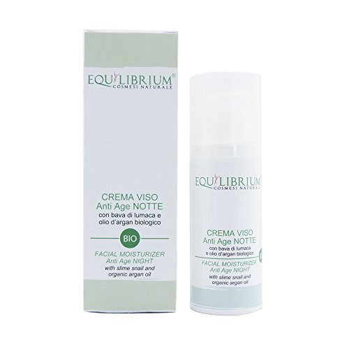 EQUILIBRIUM - COSMESI NATURALE Crème visage anti-âge NUIT 50 ml BIO avec Bave...