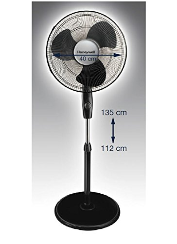 Honeywell Stand Fan : Honeywell hs e oscillating and tilt stand fan black