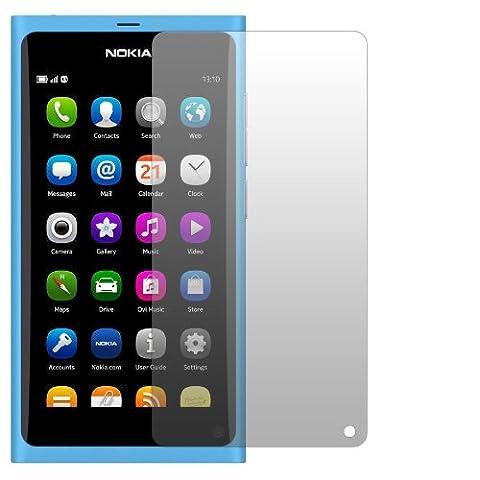 2 x Slabo Displayschutzfolie Nokia N9 Displayschutz Schutzfolie Folie Crystal Clear unsichtbar N 9 N-9 N9-00 MADE IN