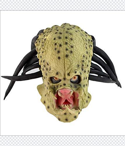 Für Jungen Kostüm Predator - WULIHONG-MaskeLatex Film Alien Predator Cosplay Maske Kostüm Helm Requisiten Antenne Halloween Party Horror Vollgesichtsmaske Spielzeug