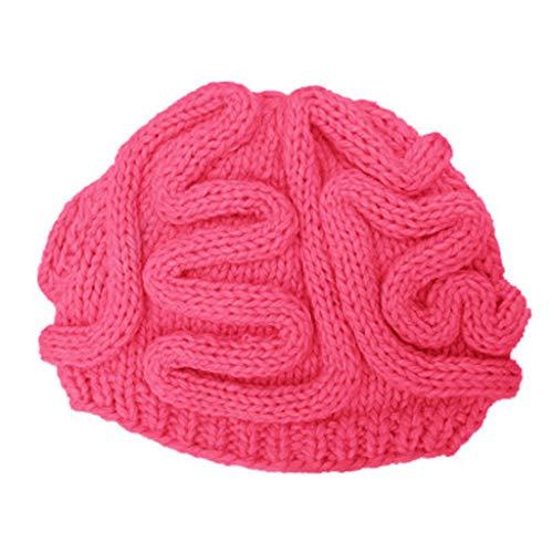 Zottom Handgestrickte Persönlichkeit Gehirn Hut Kinder Erwachsene häkeln Beanie Cool Cerebrum Cap -