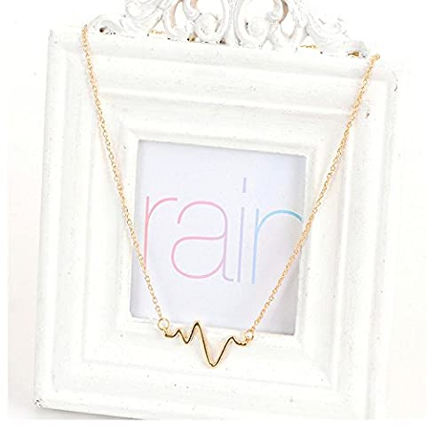 Necklace. Zig zag colored DORÉ - FASHION JEWELRY Jewelry for Women, Crew neck, simple original and trendy