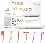 Project E Beauty D'arsonval High Frequency Wand Neon & Argon | 6 Electrodes Argon Gas Violet and Neon