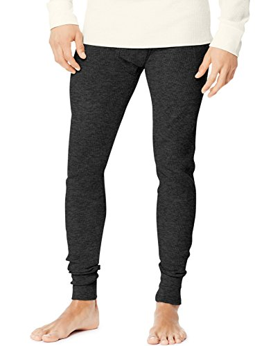 Hanes Men's Tall Size Thermal Pant Bottoms, Large Tall, Black (Long Blend Johns)