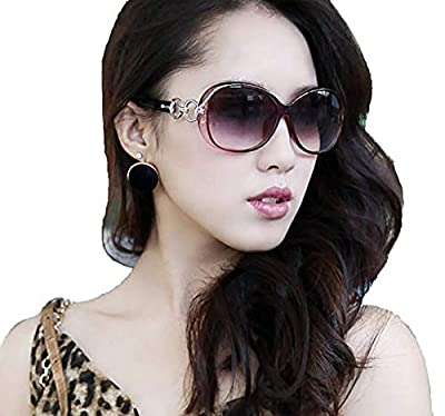 Ziory Women's Eyewear Sunglasses Round Circle Cat Eye (Brown)