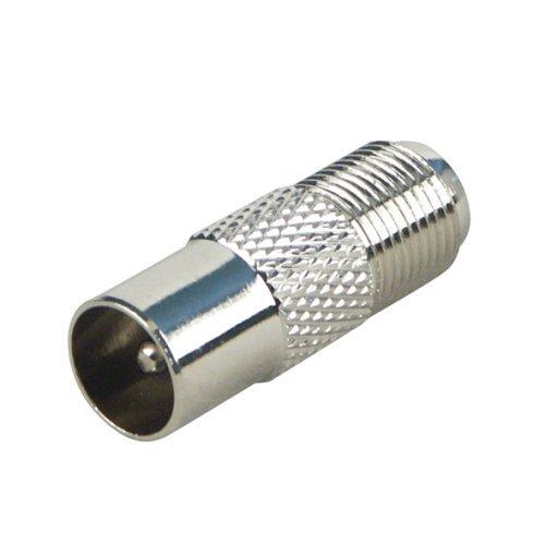 Kabel Stecker Antenne (Koaxial Adapter, IEC- Stecker (Antenne) auf F-Buchse)
