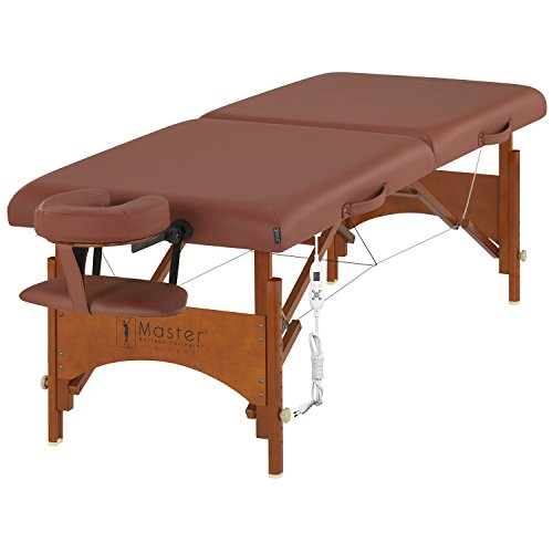 Master Massage 70 CM Fairlane Therma Top Mobil tragbar Massageliege Massagebett Massagebank Kosmetikliege Heizdecke Wärmeunterbett Heizkissen Zimt