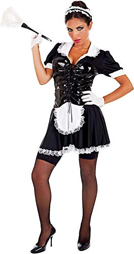 Carnevale Venizano CAV69005-M - Erwachsenenkostüm CAMERIERA SEXY - Größe: M (Cameriera Kostüm)