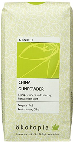 Ökotopia Grüner Tee China Gunpowder, 5er Pack (5 x 250 g)