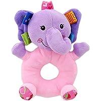 Fliyeong Premium Baby Elefant klappert Spielzeug Pl/üsch Hand Rasseln Kaninchen