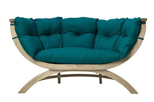 AMAZONAS Lounge Sofa Siena Due Green aus FSC Fichtenholz ca. 170 x 95 x 65 cm bis 250 kg in Grün