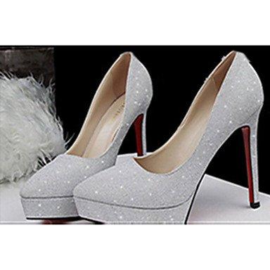 Moda Donna Sandali Sexy donna tacchi tacchi estate pu Casual Stiletto Heel altri nero / blu / bianco / grigio / Oro Altri Black