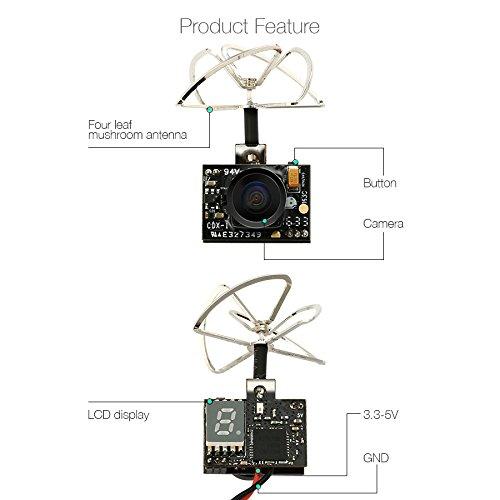 EACHINE TX01 FPV Kamera Super Mini VTX AIO 5.8G 40CH 25MW 600TVL 1/4 Cmos FPV Camera - 3