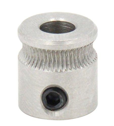 Qipang 2PCS Drive Gear für 1.75mm & 3mm Filament 3D Drucker Extruder Riemenscheibe 5mm Welle (für MK7 Repalcement Teil)