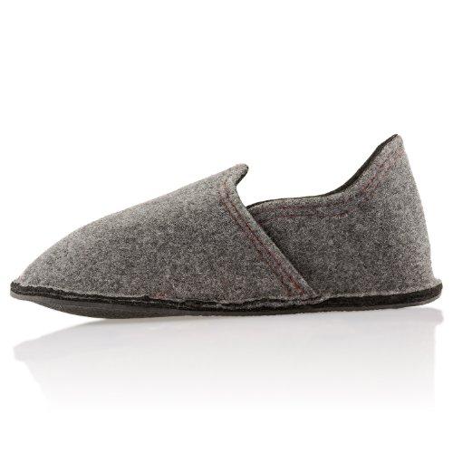 Pantofole Di Feltro Alla Moda Unisex In Diversi Colori Original Lumaland Grigio / Nero
