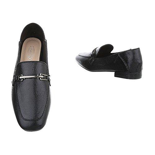 Pantofole Donna 3 Da Bloccano Mocassini Scarpe Nere 266 design Ital gqYHt