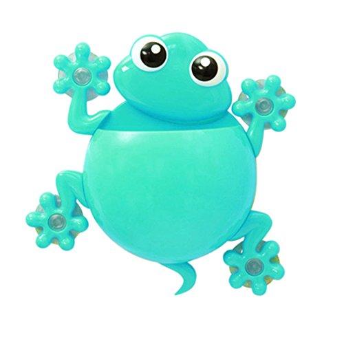 Netter Frosch Badezimmer Gecko Wand Zahnbürste Zahnbürste Halter Saugnapfhalter Blau