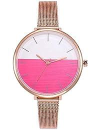 ZXMBIAO Reloj De Pulsera Moda Mujer Oro Rosa Correa De Malla Relojes Casual  Ladies Acero Cuarzo b3e96e2d2ba8