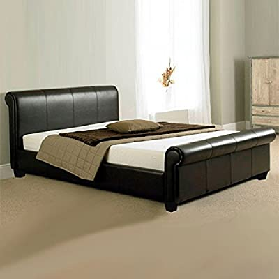 Italian Tuscany Faux Leather Bed - low-cost UK light store.