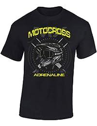 Baddery Camiseta: MX Motocross Adrenaline/Motero - Biker/Motocross / T-Shirt