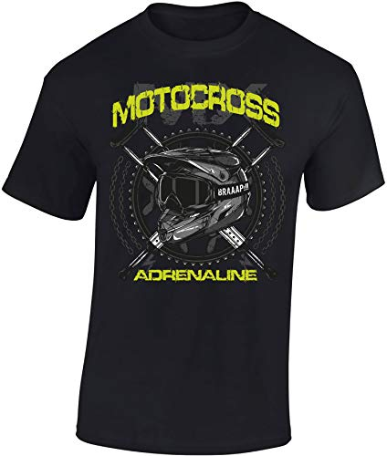 Camiseta: MX Motocross Adrenaline/Motero - Biker/Motocross/T-Shirt Unisex/Dirtbike/Tuning/Ralley/Enduro/Regalo para Motero (XL)