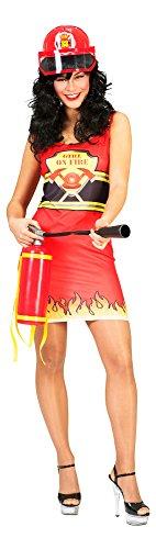 Pierro´s Kostüm Kleid Feuerwehr Damenkostüm Größe - Funny Kostüm Feuerwehrmann