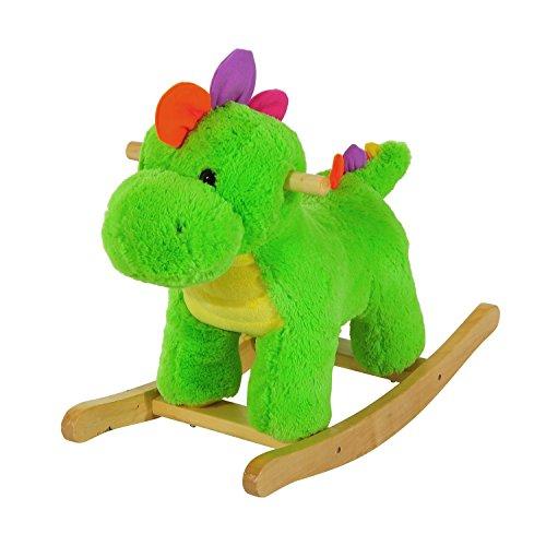 Balancín de bebé Homcom con forma de dinosaurio