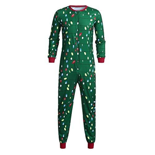 BaZhaHei 2019 Neue Weihnachten Familie Outfit Set Pyjama Set Schlafanzug Licht-Buchstabe-Spielanzug-Overall-Familien-Pyjama-Weihnachtskleidung für Damen Mädchen Jungen One Piece Romper Outfit